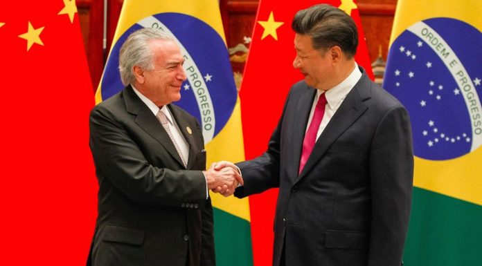 Brazil,Presidents Michel Temer and Xi Jinping in September 2016