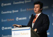 Brazil, São Paulo,Mines and Energy Minister Fernando Coelho Filho during the Brasil Futuro Conference,