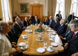 Brazil,President Michel Temer during a meeting with Norwegian Parliament Representatives,
