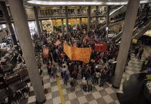 Brazil,Protesters occupy terminal at Congonhas Airport in São Paulo Friday morning,
