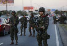 Troops on the highway, Rio de Janeiro, Brazil, Brazil News