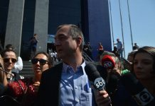 Brazil, São Paulo,Joesley Batista, leaves prosecutor's office after testimony in August 2017.