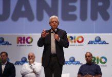 Brazil, Rio de Janeiro,General Secretary to the Presidency, Moreira Franco, participates inthe announcement of tourist plan for Rio de Janeiro,