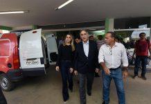 Brazil, Janauba,Minas Gerais Governor PImentel arrives in Janauba, Minas Gerais after horrific fire at day care center,