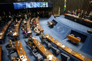 Brazil,Senators voted whether or not to reinstate Aecio Neves during Tuesday's session,