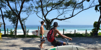 Some tour companies, such as -- combine cycling with hiking, or in true Carioca style, you can give your surfboard a ride to the beach, Rio de Janeiro, Brazil, Brazil News.