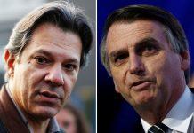 Candidates for the Presidency of Brazil, Jair Bolsonaro (PSL) and Fernando Haddad (PT), Rio de Janeiro, Brazil, Brazil News